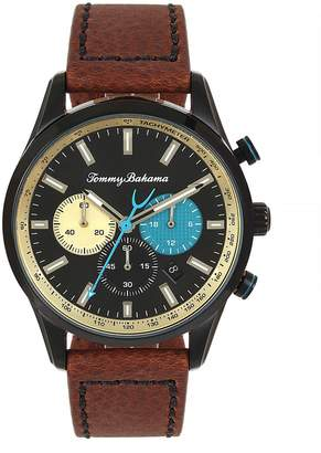 Tommy Bahama Monterey Stainless Steel Leather-Strap Chronograph Watch