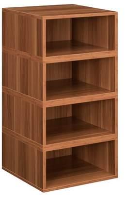 Cubo Niche Storage Set- 4 Half Size Cubes- Warm Cherry
