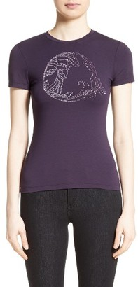Women's Versace Collection Embellished Logo Tee $250 thestylecure.com
