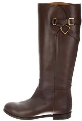 Ralph Lauren Leather Riding Boots Brown Leather Riding Boots