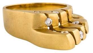 Ring 18K Diamond Asymmetrical