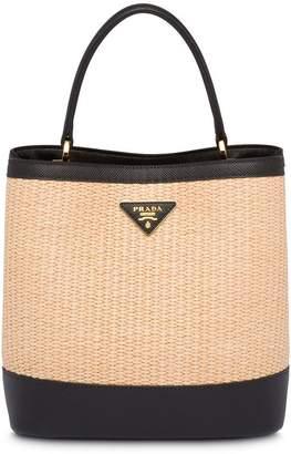 37019f7860e0 Prada Panier medium straw bag