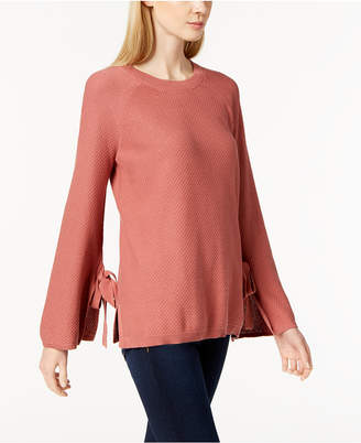 Vince Camuto Cotton Bell-Sleeve Sweater