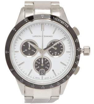 Larsson & Jennings Rally Chronograph Stainless Steel Watch - Mens - Silver