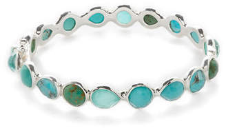 Ippolita Rock Candy® Sterling Silver All Around Hinged Bangle in Blue/Brown