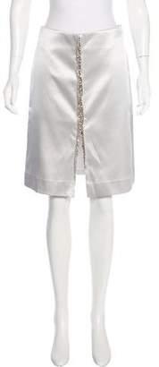 Thakoon Satin Knee-Length Skirt