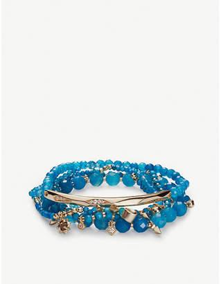 Kendra Scott Supak 14ct gold-plated beaded bracelet