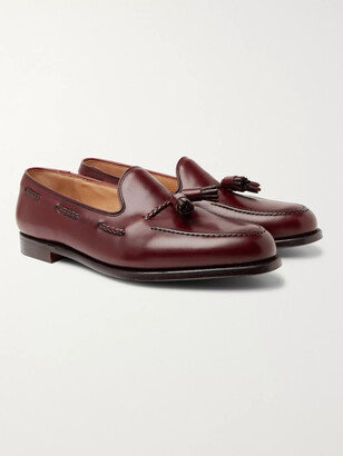 George Cleverley Aidan Leather Tasselled Loafers - Men - Burgundy