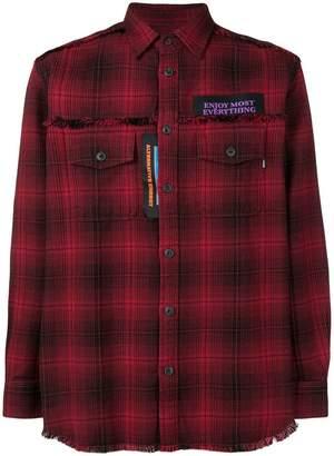 Diesel tartan pattern shirt