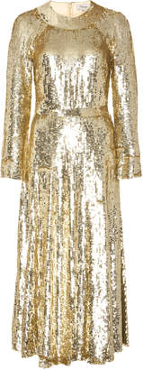 Temperley London Ray Sequined-Tulle Dress
