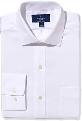 Buttoned Down Men's Non-Iron Classic Fit Pinpoint Spread Collar Dress Shirt
