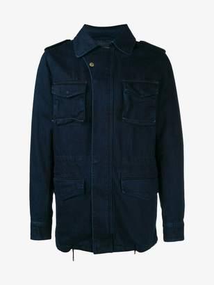Yves Salomon denim military jacket