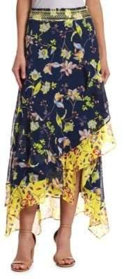 Peserico Esmee Garden-Print Skirt