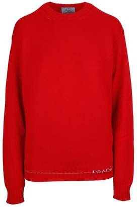 Prada Linea Rossa Embroidered Logo Jumper