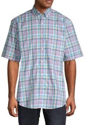 Paul & Shark Plaid Cotton Button-Down Shirt