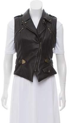 Alexander Wang Leather Moto Vest