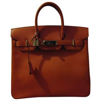 Hermes Haut a Courroies Orange Leather Handbag