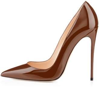 Eldof Womens Pointed Toe High Heel Slip On Stiletto Pumps Wedding Party Basic Shoes US8