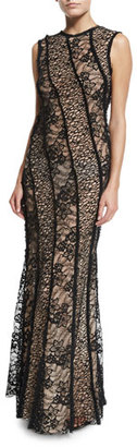 Jason Wu Sleeveless Corded Lace Gown, Black $4,995 thestylecure.com