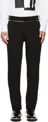 McQ Alexander Mcqueen Black Zipper Trim Trousers $455 thestylecure.com