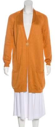 Hermes Silk Button-Up Cardigan