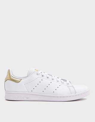 adidas Stan Smith W Sneaker in FTWR White/Gold Metal