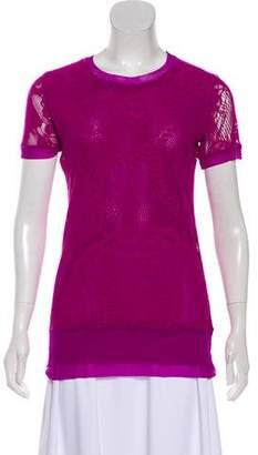 Jean Paul Gaultier Soleil Mesh Short Sleeve Top