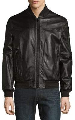 Andrew Marc Leather Bomber Jacket