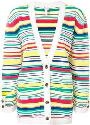 Loewe Striped Wool-Blend Cardigan