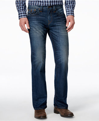True Religion Men's Flap Urban Blue Wash Ricky Bootcut Jeans $198 thestylecure.com