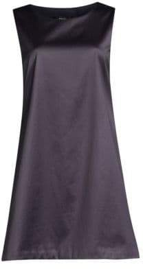 Theory Easy Satin Sleeveless Shift Dress