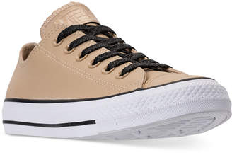 Converse Chuck Taylor All Star Leather Ox Casual Sneakers from Finish Line