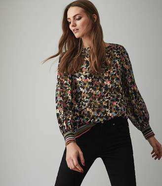 ff91656a60fe42 at Reiss · Reiss Ally - Disty Floral Printed Top in Multi
