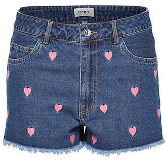 Only Heart Denim Shorts