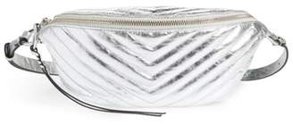 Rebecca Minkoff Edie Metallic Leather Belt Bag