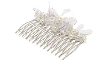 Simone Rocha Floral Pearl Embellished Hair Comb - Womens - Clear