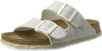 Papillio Womens by Birkenstock Arizona Beach Light Grey Fabric Sandals 39 EU