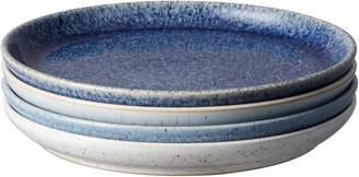 Denby Studio Blue Four-Piece Medium Coupe Plate Set