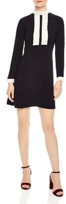 Sandro Dandy Lace-Trimmed Mini Dress