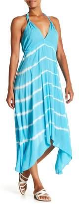 AAKAA V-Neck Print Maxi Dress
