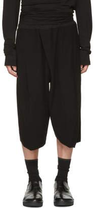 Julius Black Tucked Baggy Trousers