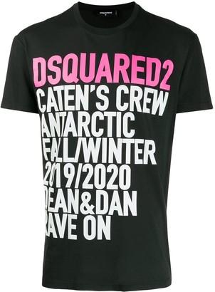 DSQUARED2 logo slogan print T-shirt