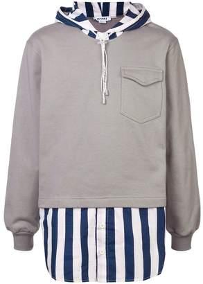 Sunnei striped hoodie