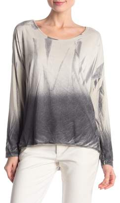 Tempo Paris Ombre Scoop Neck Hi-Lo Blouse