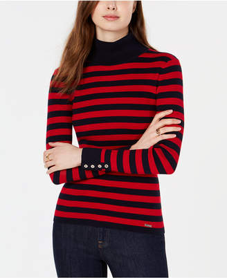 Tommy Hilfiger (トミー ヒルフィガー) - Tommy Hilfiger Cotton Striped Turtleneck Sweater