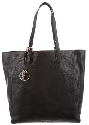 Versace Grained Leather Shopper Tote w/ Tags