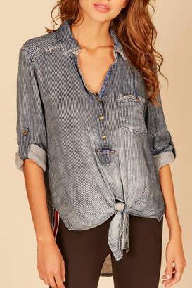 Vintage Havana Pin stripe button down shirt