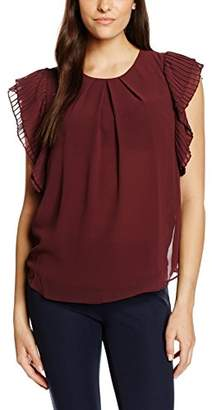 Ichi Women's Arabi to Blouse, Red-Rot (Vineyard Wine 223), 42 (Manufacturer's Size: XL)