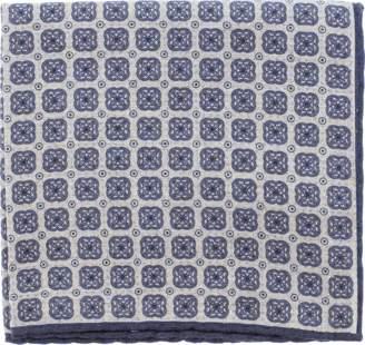 Eleventy Pocket Square With Multi Print