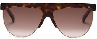 Givenchy Flat Top Tortoiseshell Sunglasses - Womens - Tortoiseshell